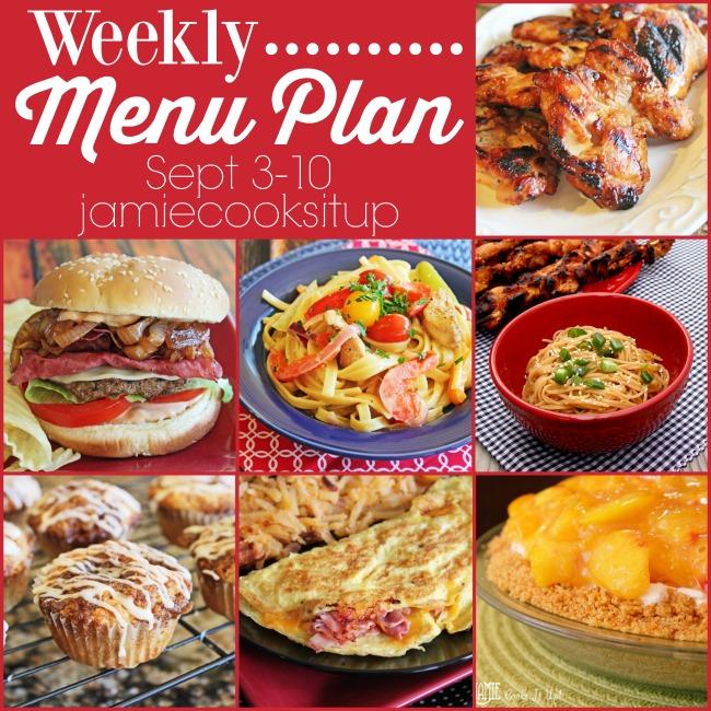 Weekly Menu Plan: Sept 3-10