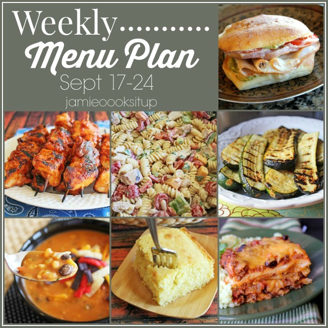 Weekly Menu Plan Sep.17 + NEW CUTE PRINTABLE PAGE OPTION