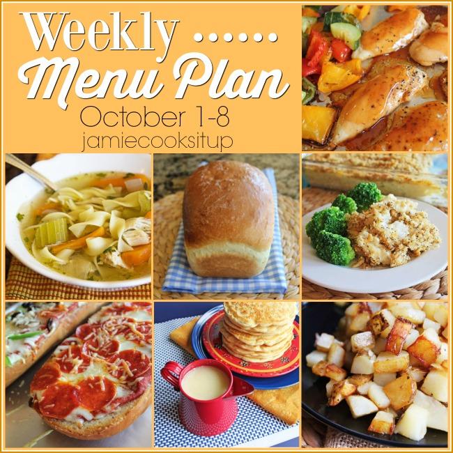 Weekly Menu Plan: October 1-8 + Printable List