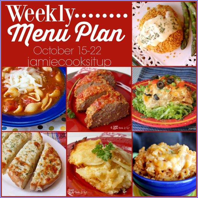 Weekly Menu Plan: October 15-22