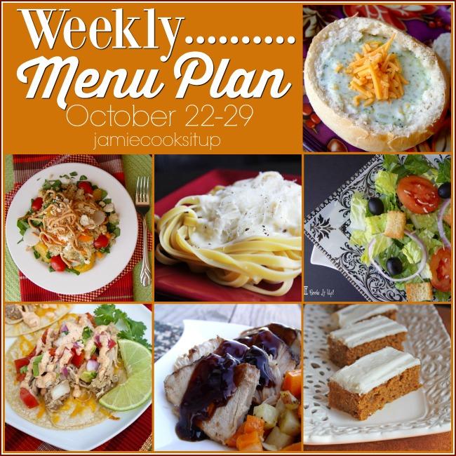 Weekly Menu Plan: October 15-22