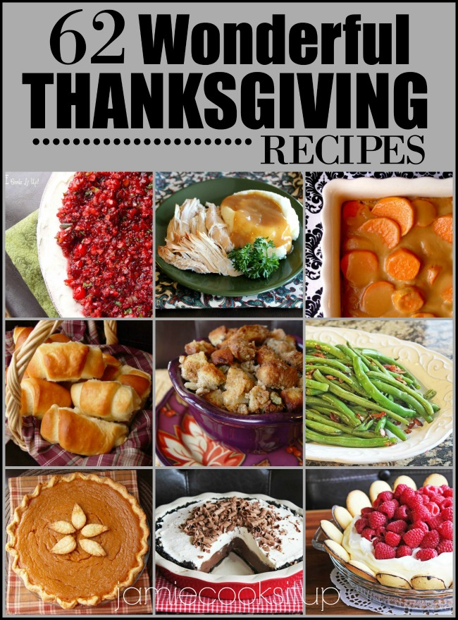 62 Wonderful Thanksgiving Recipes (2016 Edition)