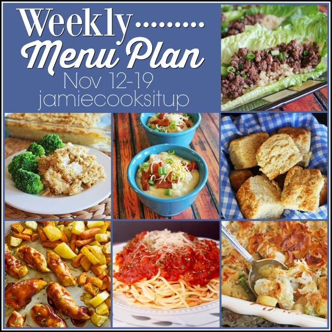 Weekly Menu Plan, Nov 12-19