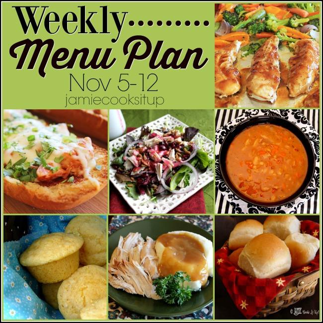 Weekly Menu Plan, Nov 5-12
