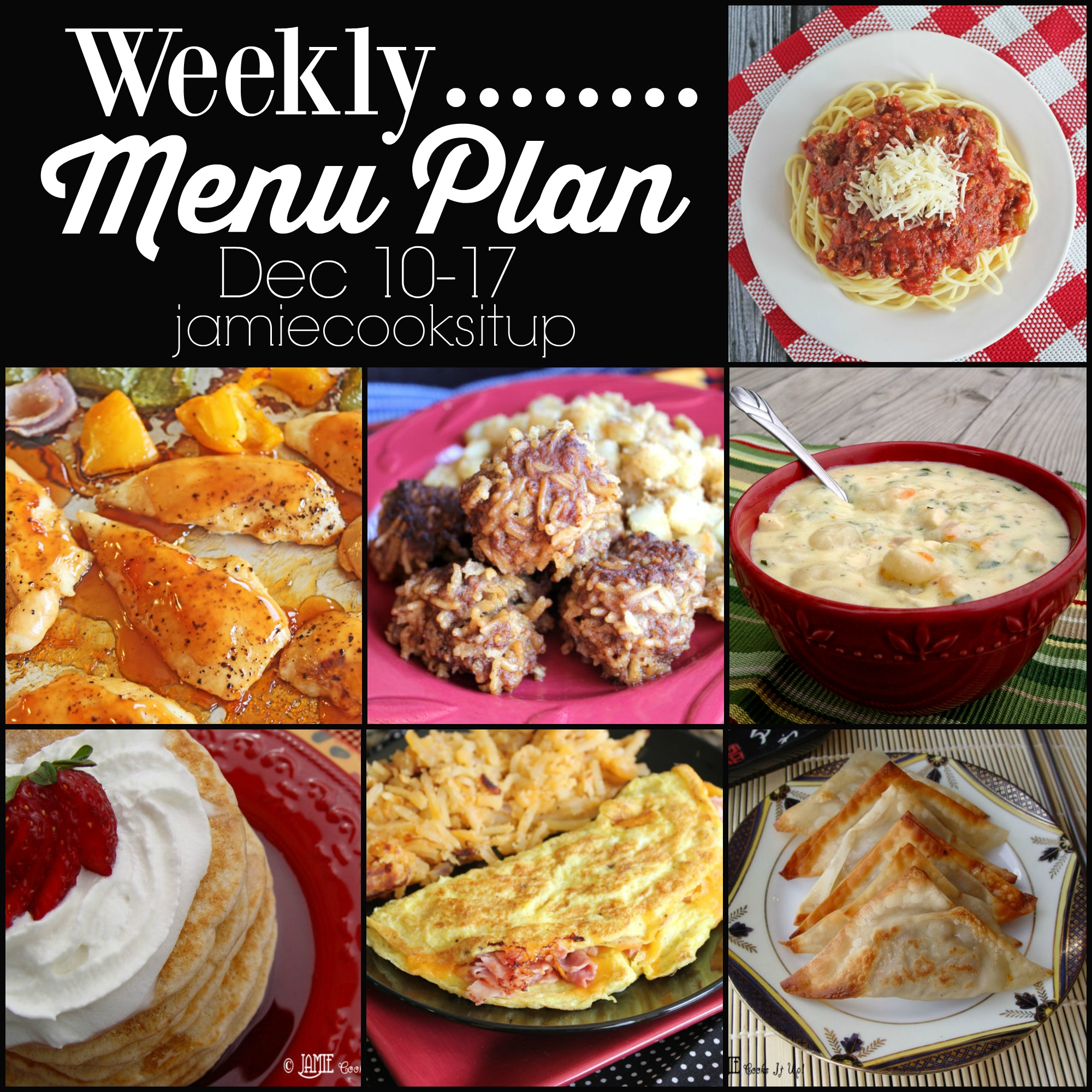 Weekly Menu Plan, Dec 10-17