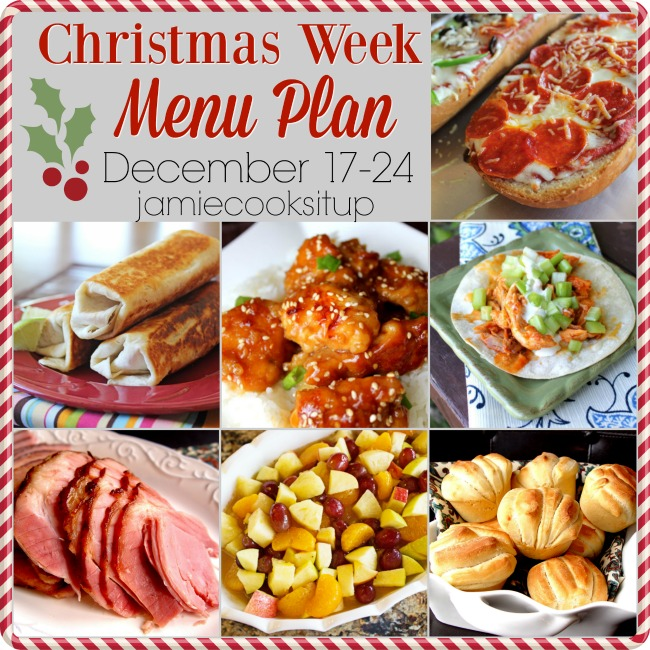 Christmas Week Menu Plan, Dec 17-24