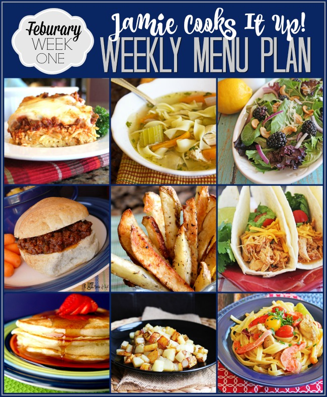 Menu Plan February Week #1