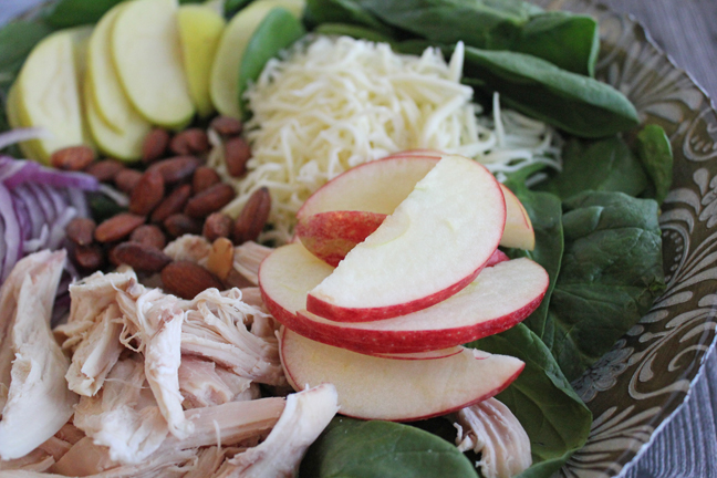 smokehouse-almond-and-apple-spinach-salad