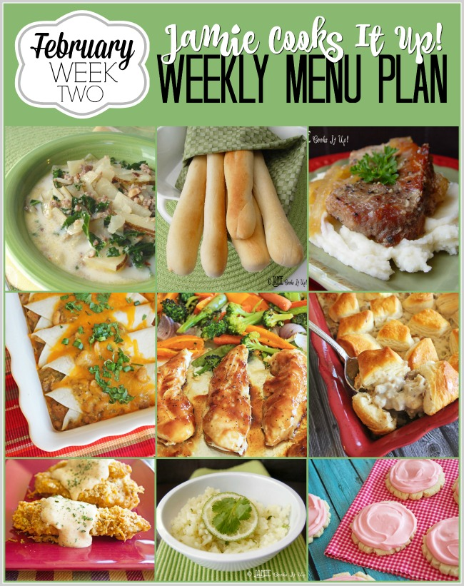 Menu Plan February Week #2