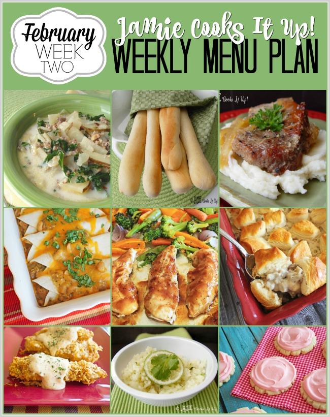 Menu Plan February Week #2
