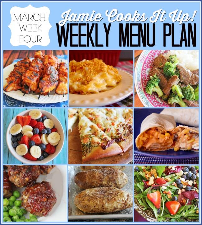 Menu Plan March Week #4