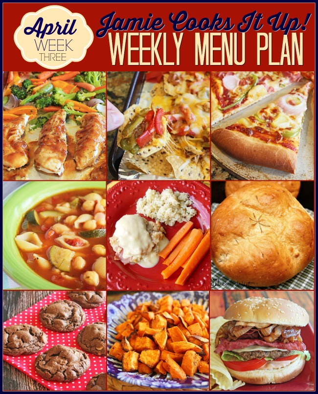 Menu Plan April Week #3