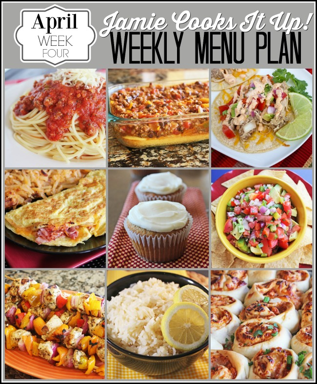 Menu Plan April Week #4