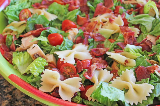 BLT and Bowtie Pasta Salad