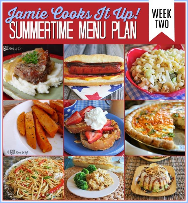 Summertime Menu Plan: Week #2