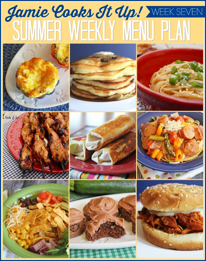 Summertime Menu Plan, Week #7