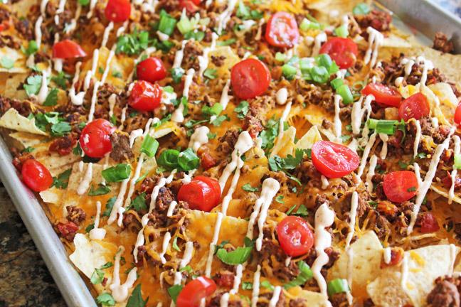 Sheet Pan Taco Nachos