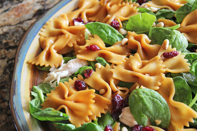 Teriyaki Chicken and Bowtie Pasta Salad