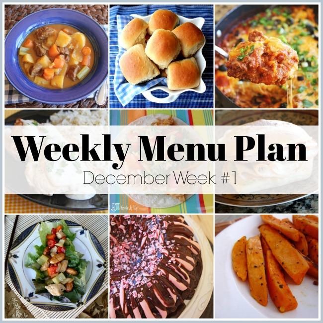 Menu Plan, December Week #1
