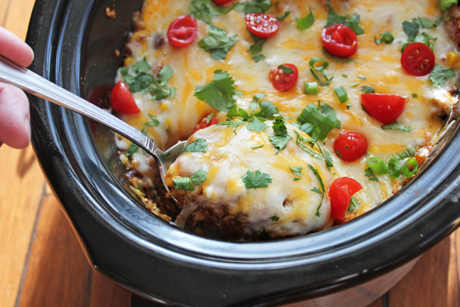 Crock Pot Mexican Casserole (Lightened Up!)