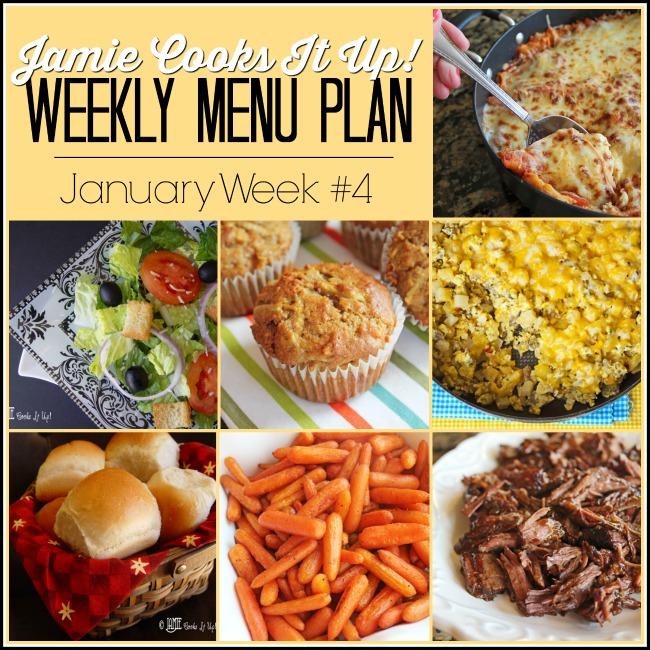 Menu Plan, January Week #4