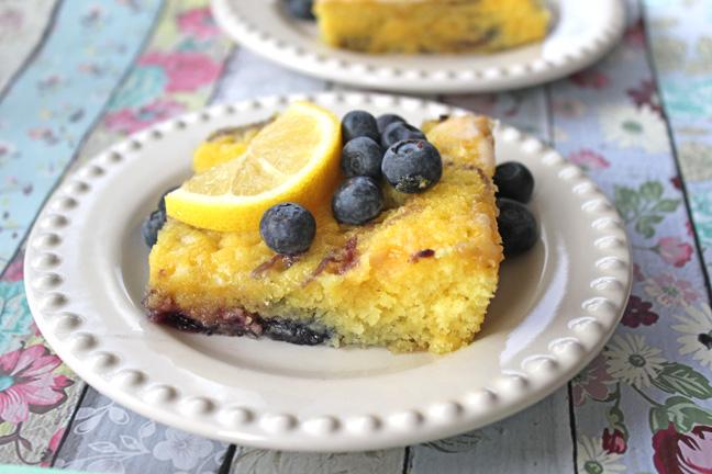 Lemon Blueberry Sheet Cake