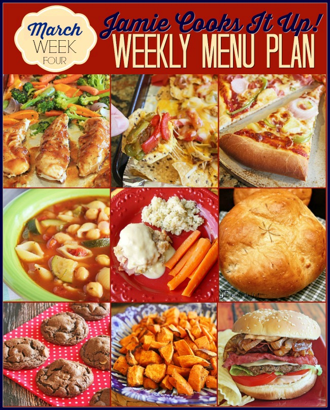 Menu Plan, March Week #4