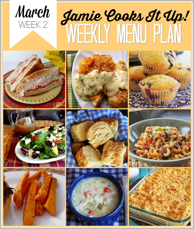 Menu Plan, March Week #2!