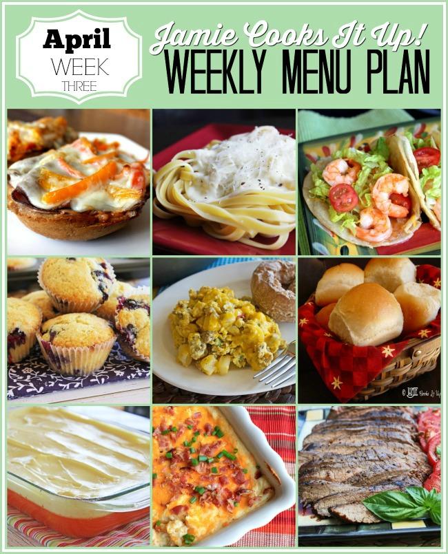 Menu Plan, April Week #3