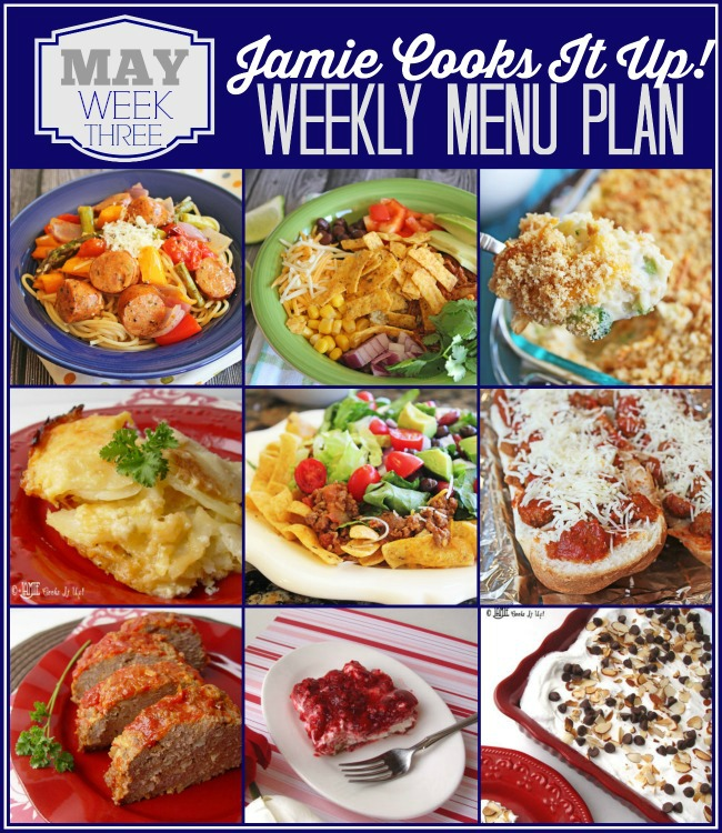 Menu Plan, May Week #3
