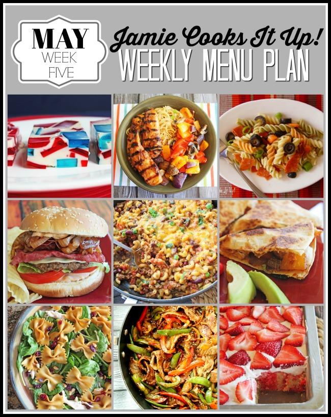 Menu Plan, May Week #5