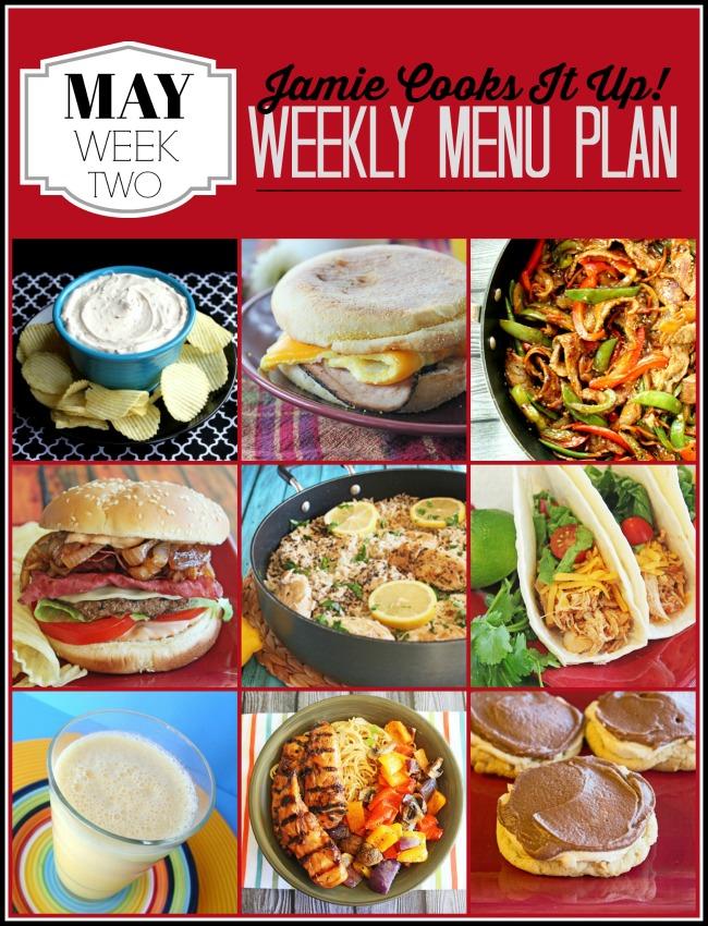 Menu Plan, May Week #2