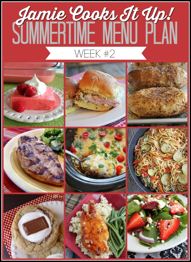 Summertime Menu Plan, Week #2