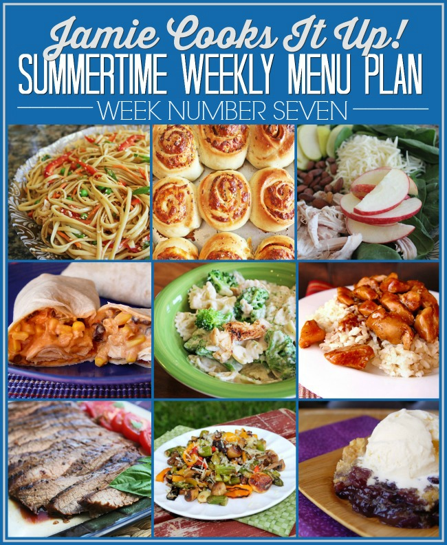 Summertime Menu Plan, Week # 7