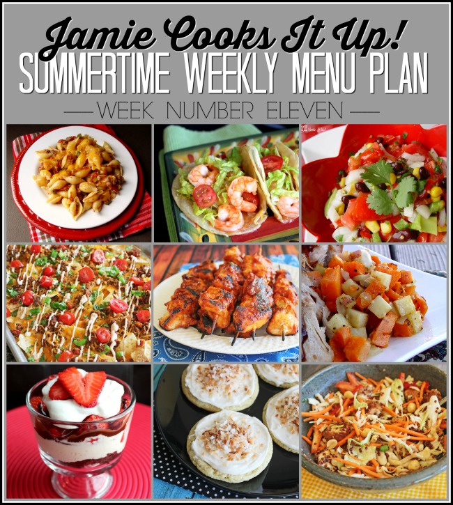 Summertime Menu Plan, Week #11!