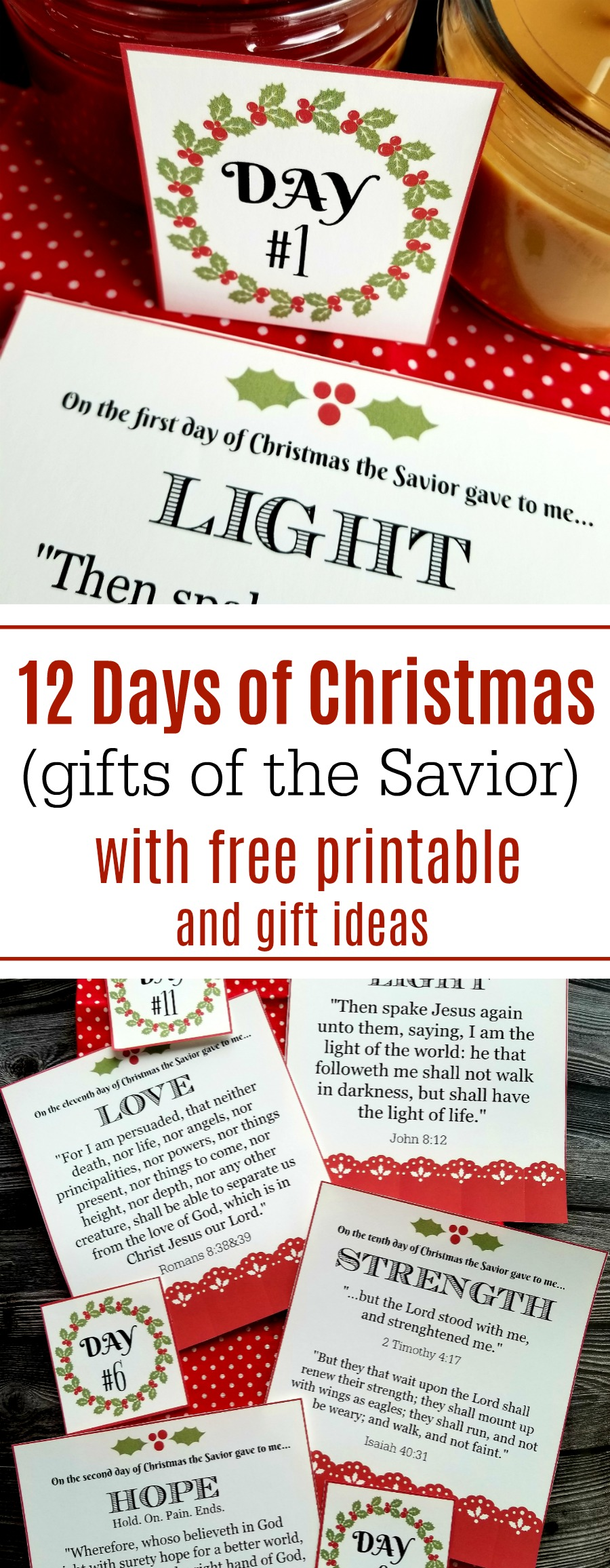 picture regarding Printable Gifts identify 12 Times of Xmas (items of the Savior) with Free of charge