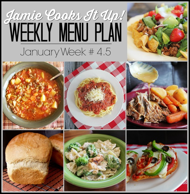Menu Plan, January Week #4.5