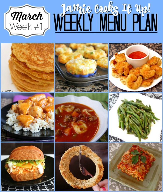 Menu Plan, March Week #1