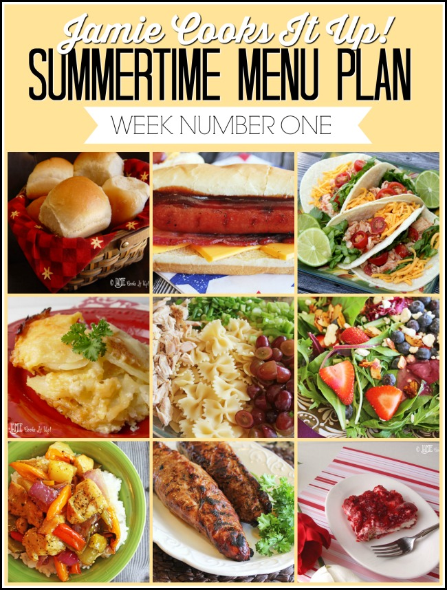 Summertime Menu Plan 2019, Week #1