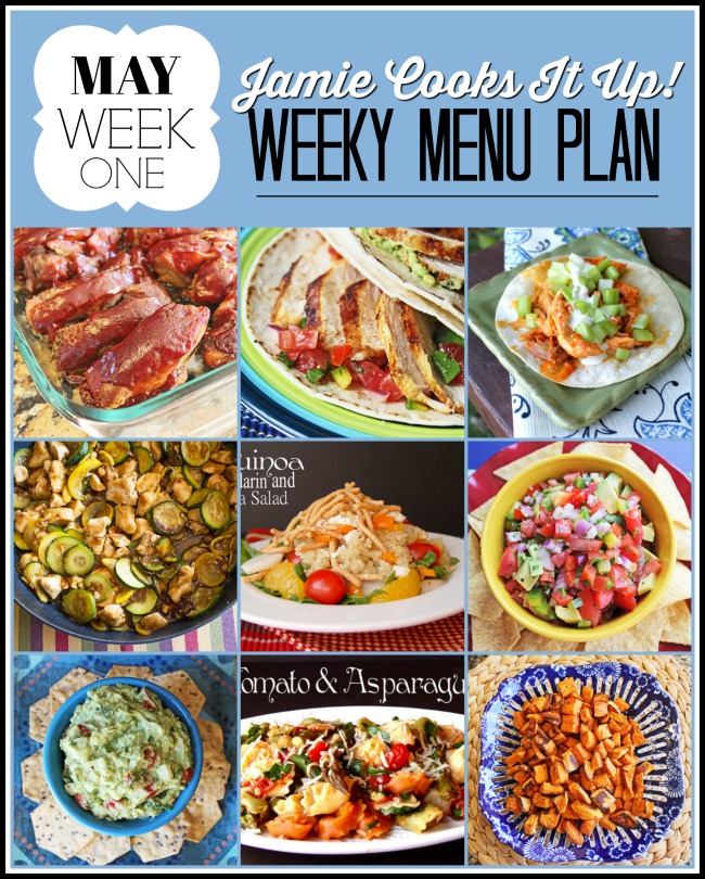 Menu Plan, May Week #1