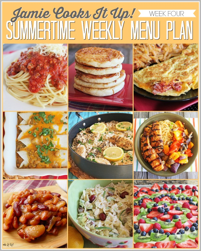 Summertime Menu Plan, Week #4, 2019