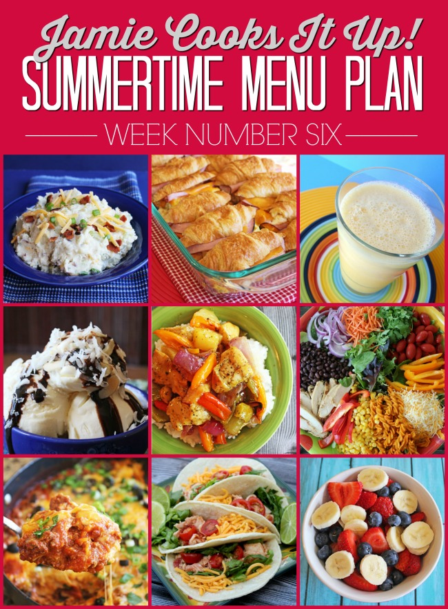 Summertime Menu Plan, Week #6-2019