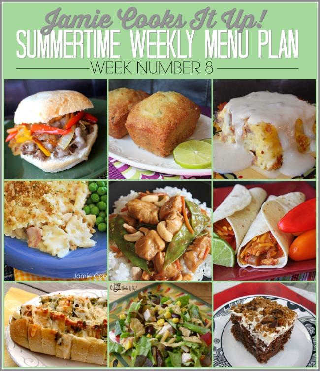 Summertime Menu Plan, Week #8-2019