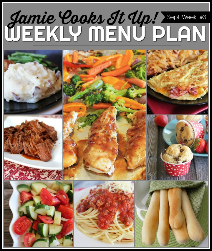 September Menu Plan, Week #3-2019