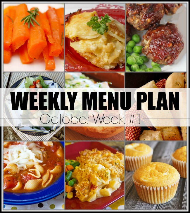 Menu Plan, October Week 1-2019