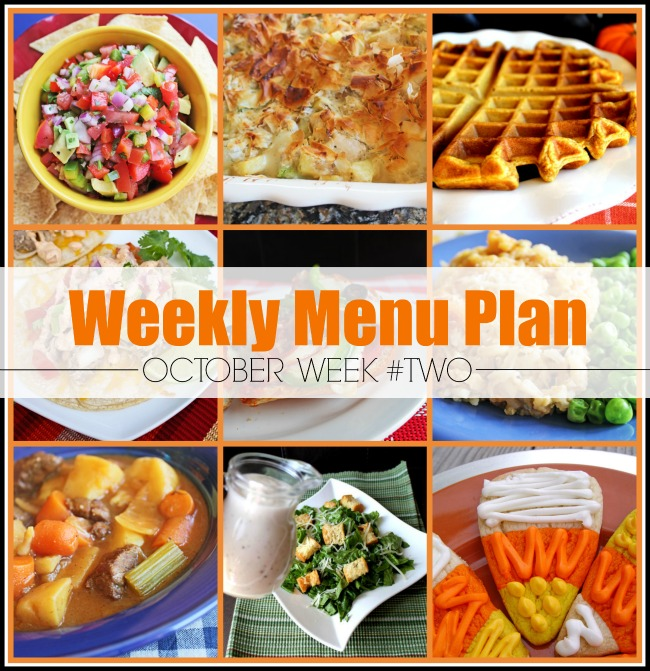 Menu Plan, October Week #2-2019