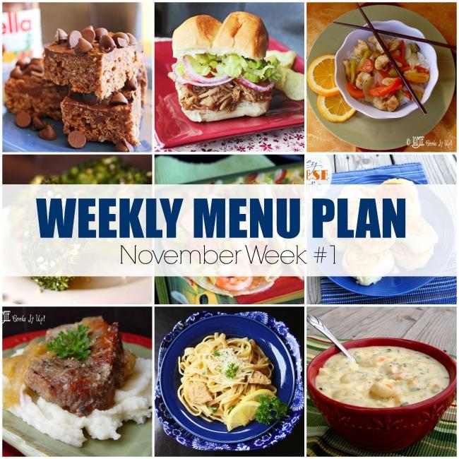 Menu Plan, November Week #1-2019