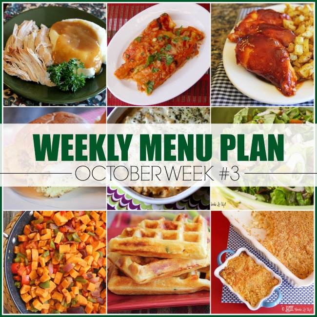 Menu Plan, October Week #3-2019