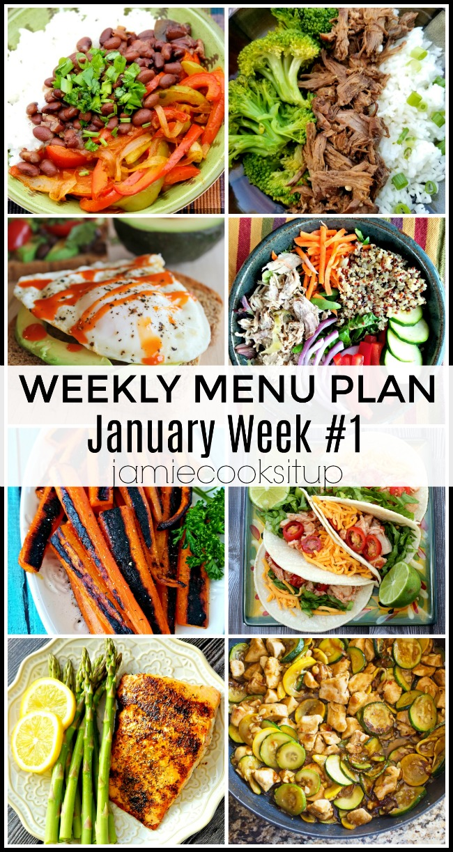 January Menu Plan, Week #1-simple and healthy