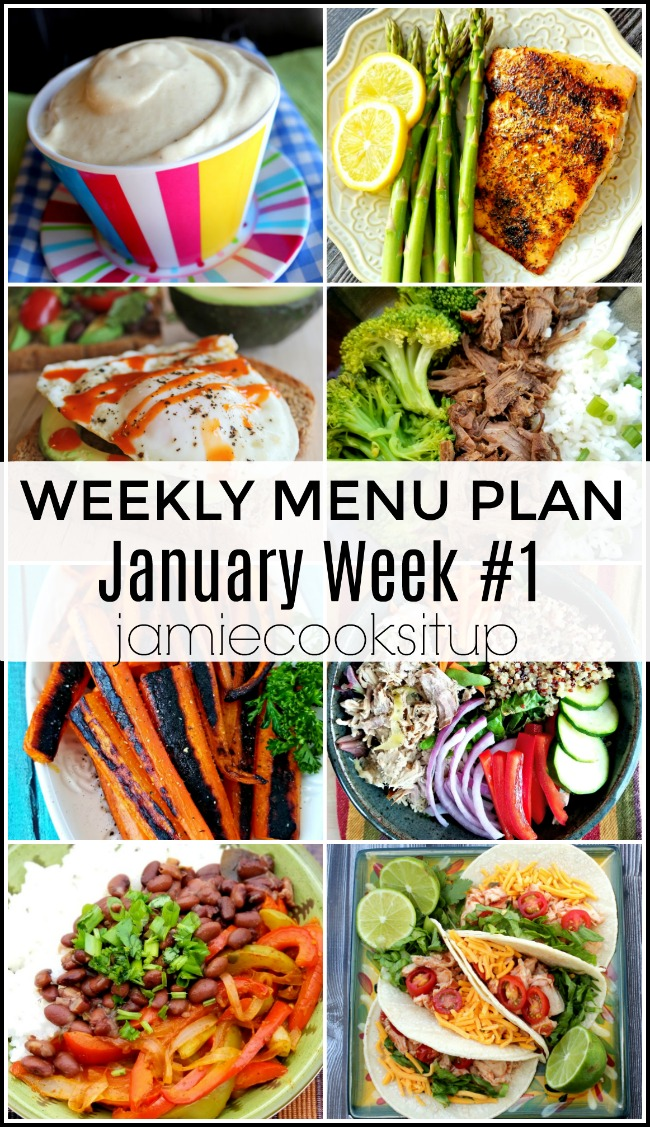 Menu Plan, January Week #1 ALL HEALTHY RECIPES
